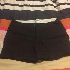 Old navy black shorts size 6